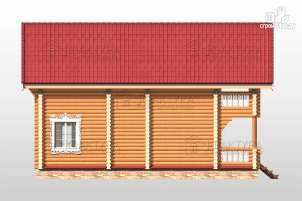 Фото 7: проект бревенчатый дом 8х11
