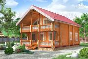 Проект бревенчатый дом 8х11