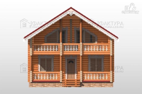 Фото 4: проект бревенчатый дом 8х11