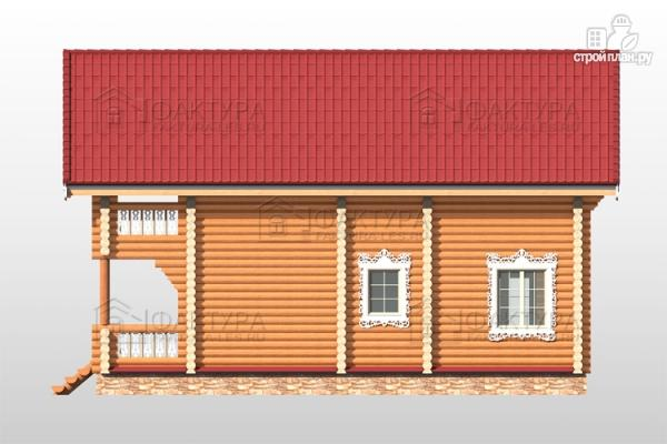 Фото 5: проект бревенчатый дом 8х11