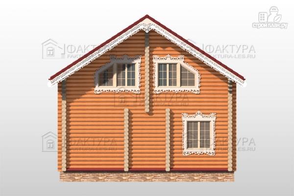 Фото 6: проект бревенчатый дом 8х11