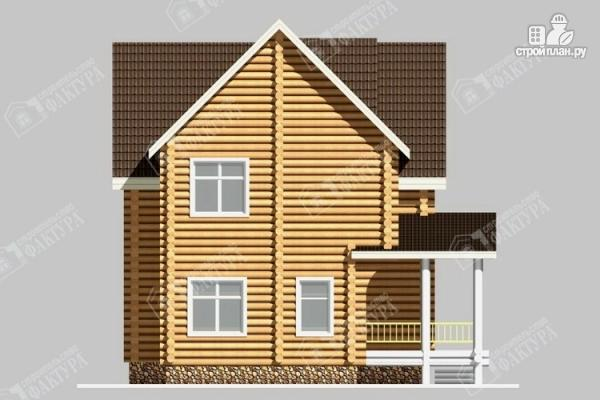 Фото 7: проект бревенчатый дом 8х10
