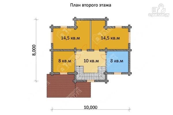 Фото 3: проект бревенчатый дом 8х10