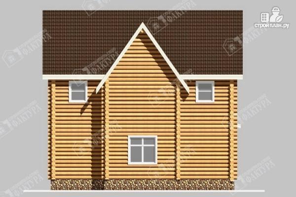 Фото 6: проект бревенчатый дом 8х10