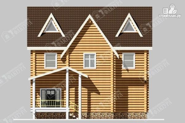 Фото 4: проект бревенчатый дом 8х10