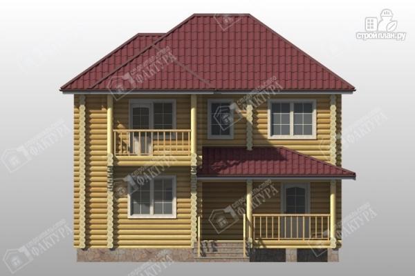 Фото 4: проект дом из бревна 9х11 с двумя балконами