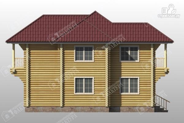 Фото 7: проект дом из бревна 9х11 с двумя балконами