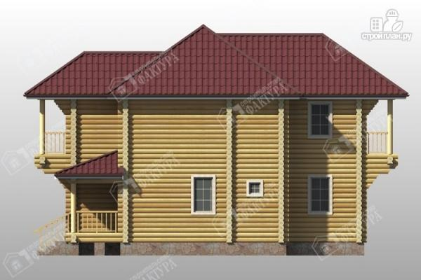 Фото 5: проект дом из бревна 9х11 с двумя балконами