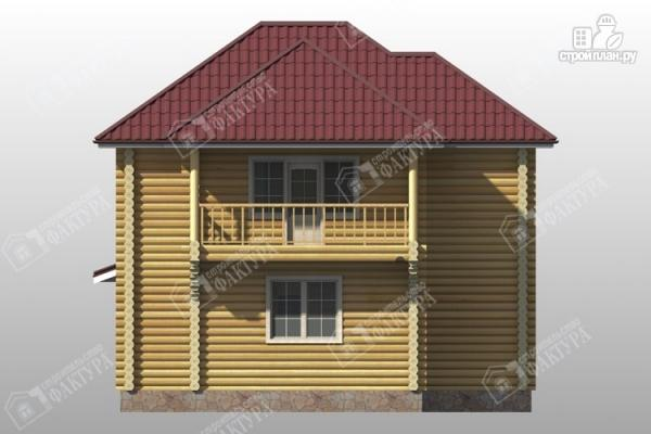 Фото 6: проект дом из бревна 9х11 с двумя балконами