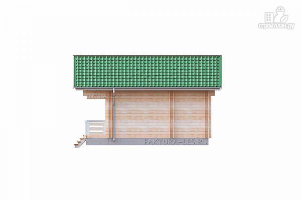 Фото 5: проект дом из двойного бруса с террасой