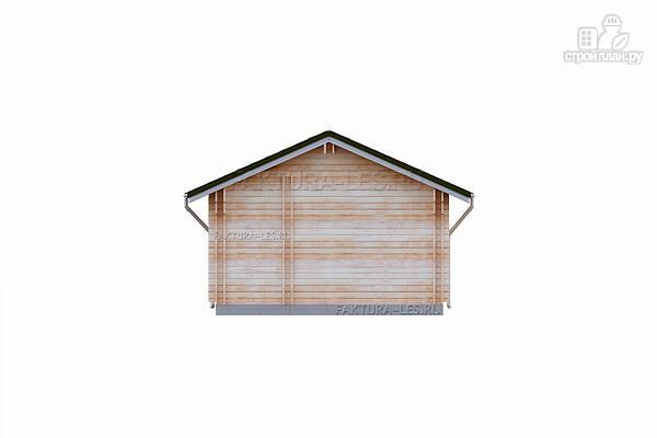 Фото 6: проект дом из двойного бруса с террасой