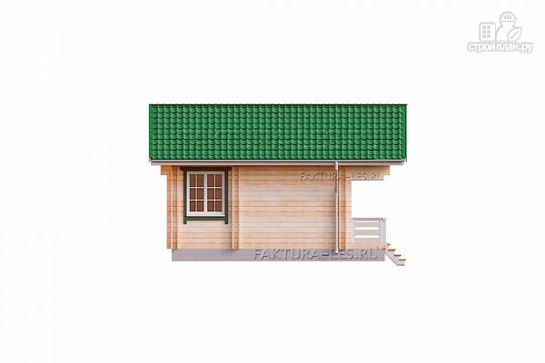 Фото 4: проект дом из двойного бруса с террасой