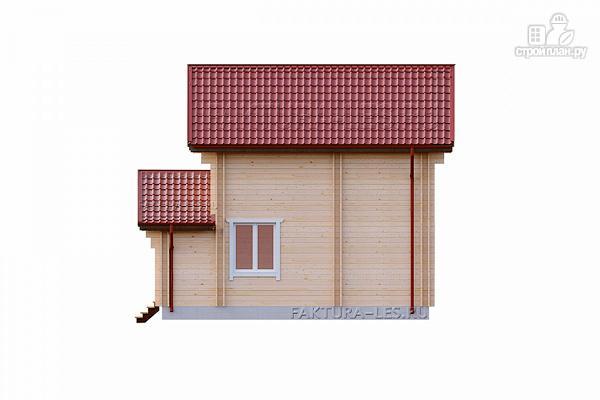 Фото 5: проект дом из двойного бруса с верандой