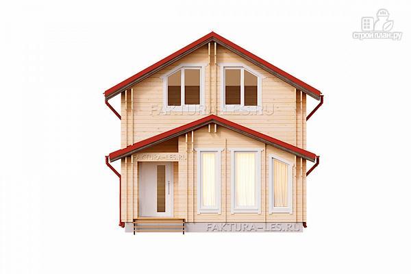 Фото 4: проект дом из двойного бруса с верандой