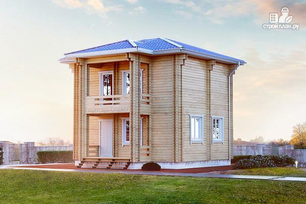 Фото: проект дом из двойного бруса