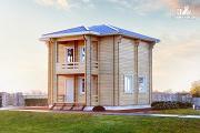 Фото: дом из двойного бруса