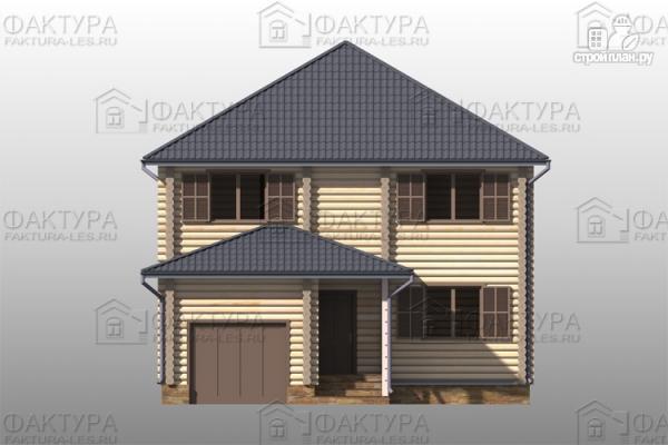 Фото 4: проект дом из бревна с гаражом