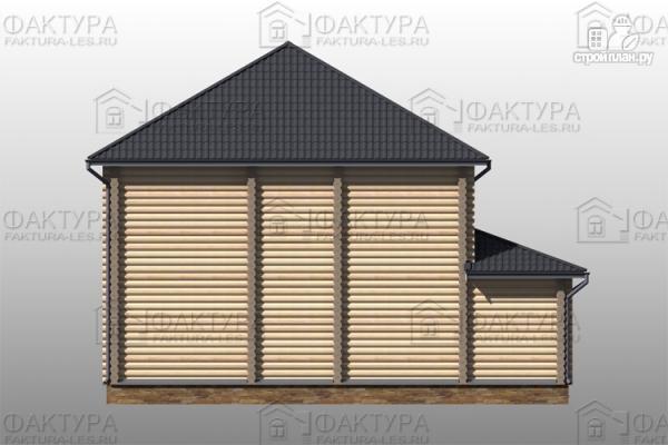 Фото 7: проект дом из бревна с гаражом