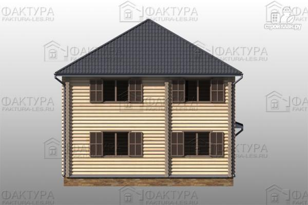 Фото 6: проект дом из бревна с гаражом