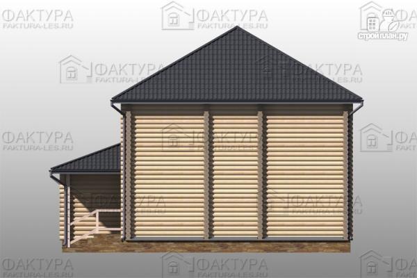 Фото 5: проект дом из бревна с гаражом