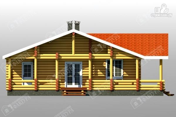 Фото 6: проект бревенчатый дом с двумя террасами