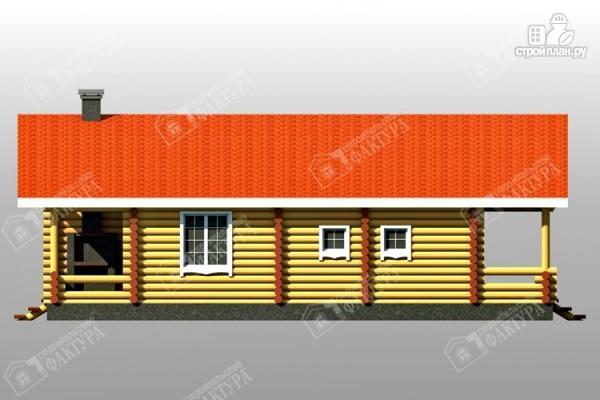 Фото 5: проект бревенчатый дом с двумя террасами