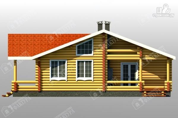 Фото 4: проект бревенчатый дом с двумя террасами