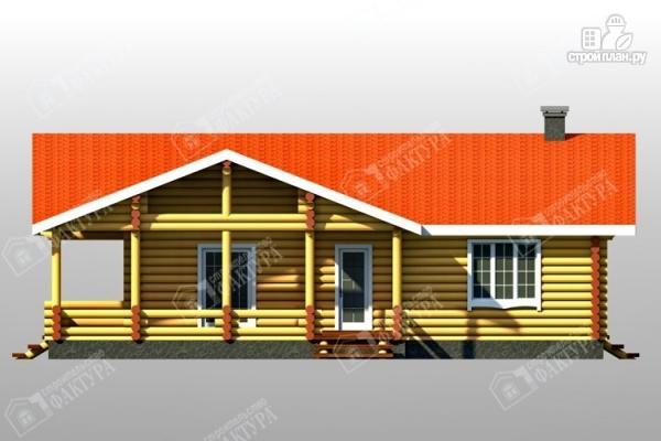 Фото 3: проект бревенчатый дом с двумя террасами
