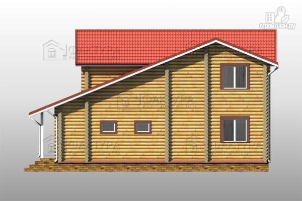 Фото 5: проект двухэтажный дом из бревна с гаражом