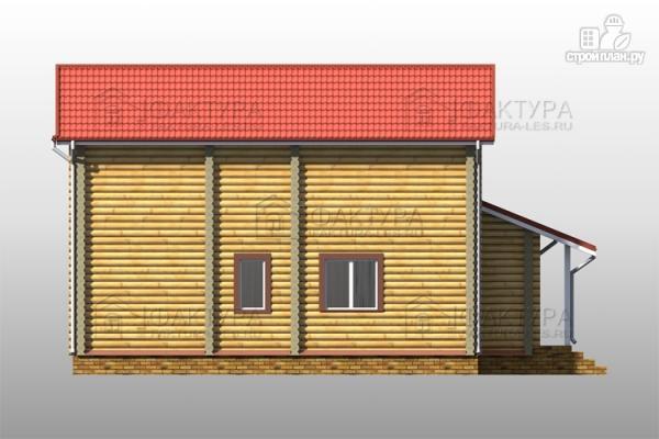Фото 7: проект двухэтажный дом из бревна с гаражом