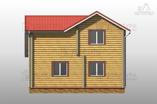Фото 6: проект двухэтажный дом из бревна с гаражом
