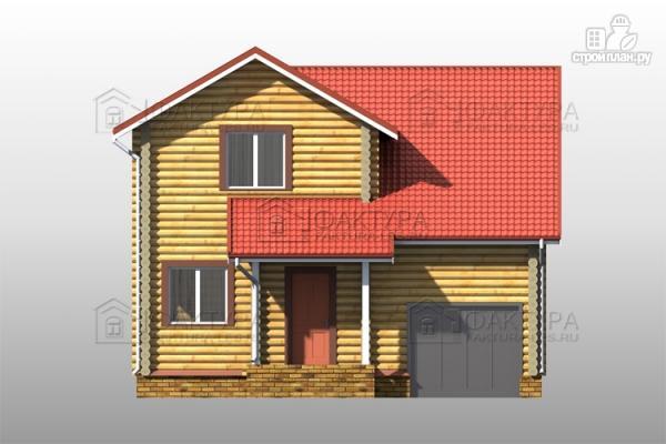 Фото 4: проект двухэтажный дом из бревна с гаражом