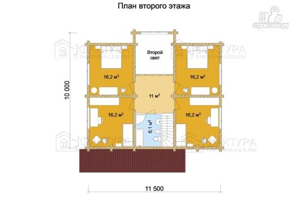 Фото 3: проект дом из бревна с двухсветной гостиной