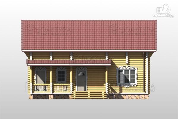 Фото 4: проект дом из бревна с двухсветной гостиной
