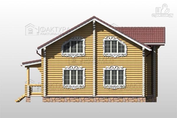 Фото 5: проект дом из бревна с двухсветной гостиной