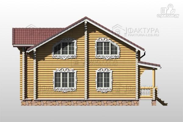 Фото 7: проект дом из бревна с двухсветной гостиной