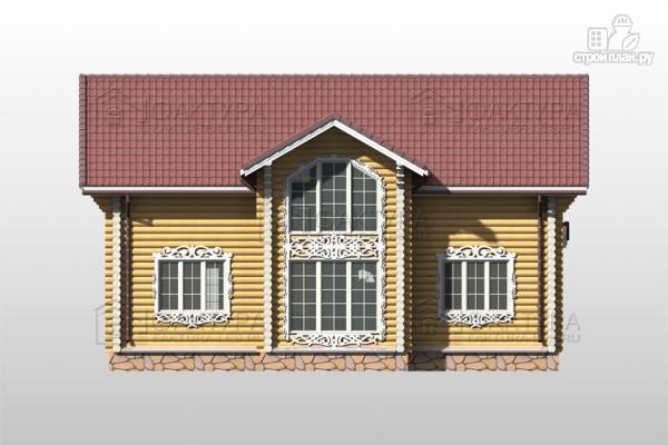 Фото 6: проект дом из бревна с двухсветной гостиной