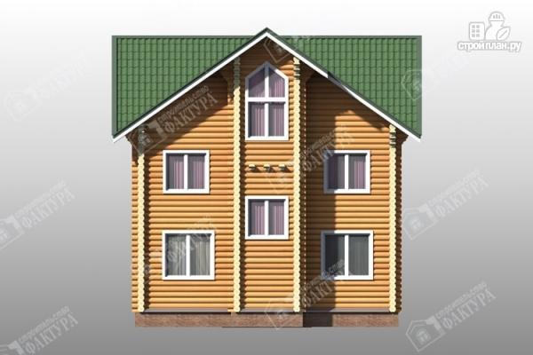 Фото 7: проект трёхэтажный дом из бревна