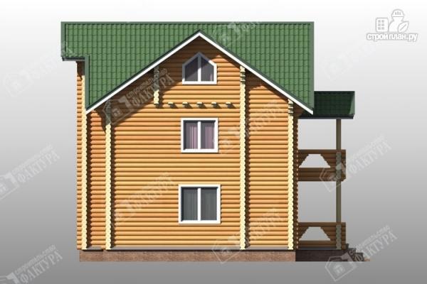 Фото 8: проект трёхэтажный дом из бревна