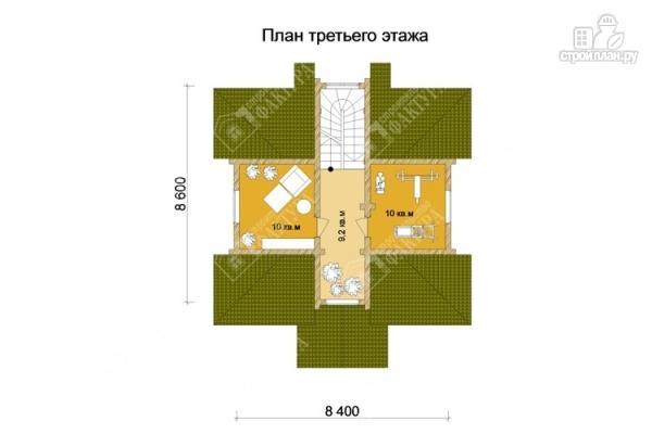 Фото 4: проект трёхэтажный дом из бревна