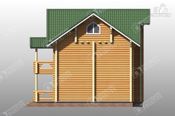 Фото 6: проект трёхэтажный дом из бревна