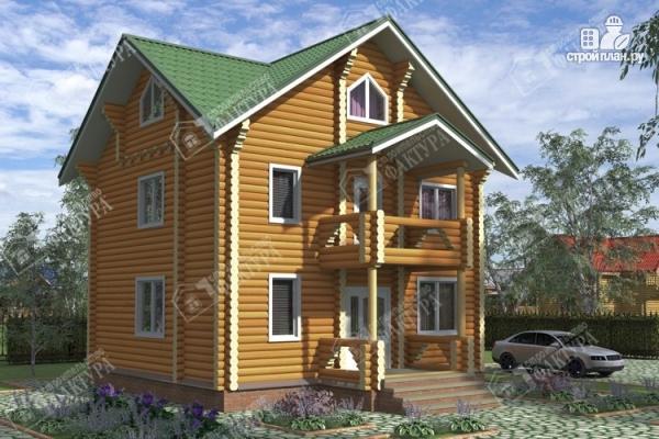 Фото: проект трёхэтажный дом из бревна