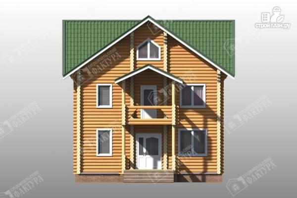 Фото 5: проект трёхэтажный дом из бревна