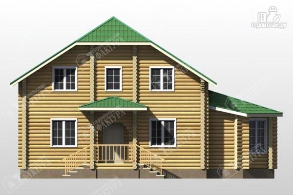 Фото 4: проект дом из бревна с зимним садом