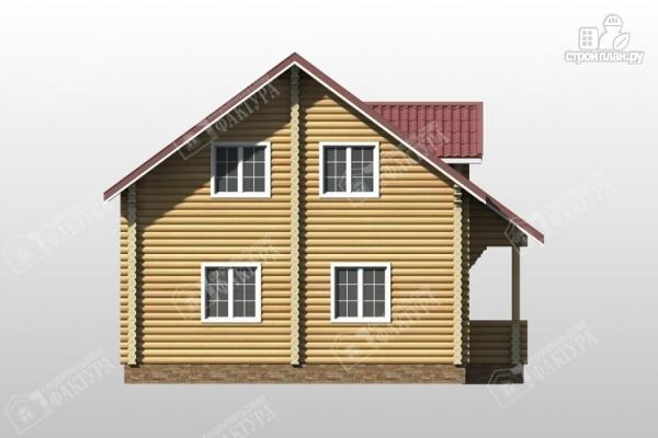 Фото 6: проект дом из оцилиндрованного бревна с мансардным этажом и балконом