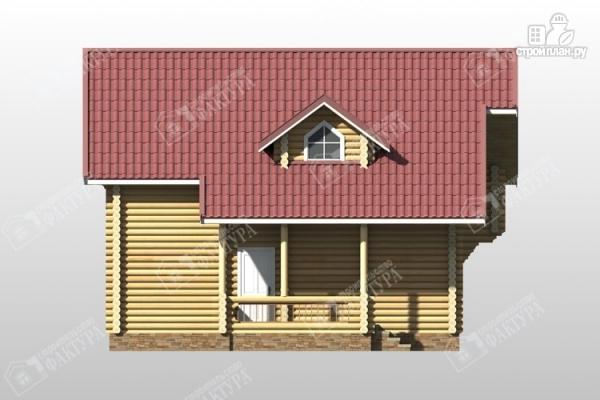 Фото 7: проект дом из оцилиндрованного бревна с мансардным этажом и балконом