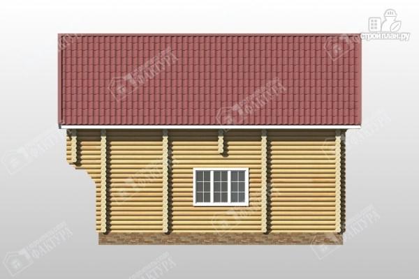 Фото 5: проект дом из оцилиндрованного бревна с мансардным этажом и балконом