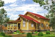 Проект дом из бревна 9х15