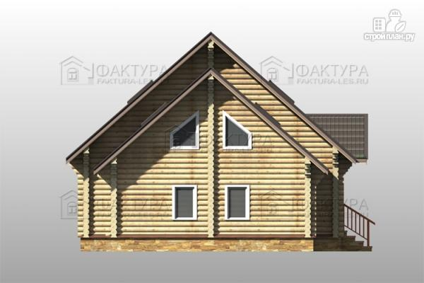 Фото 7: проект дом из бревна с гаражом на две машины