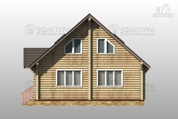 Фото 5: проект дом из бревна с гаражом на две машины